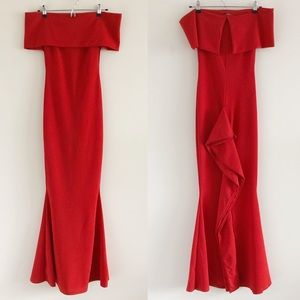 NWT Fashion Nova Penthouse Floor Dress Red Small